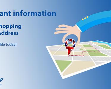 Important Information - New UK Warehouse Address
